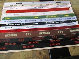 Tissus collector,Marques-Lot Hediard,Swarovski,Longchamp,Aux 3 quartiers...