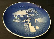 Royal Copenhagen Denmark B & G * Blue Christmas Plate * Country Christmas 1973