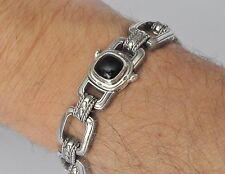 Konstantino Men's Link Bracelet Black Onyx Sterling Silver Heonos New