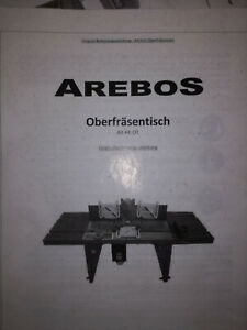 Arebos Oberfräsentisch
