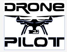 DRONE PILOT - Car Window Sticker -Drones Sign DJI Inspire Phantom Silhouette
