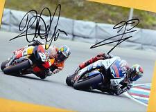 Dani PEDROSA - Jorge LORENZO - Autogramm Bild - Print Copie + 2 Moto AK signiert