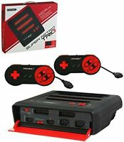 Retro-Bit Super RetroTRIO Console NES/SNES/Genesis 3-In-1 System - Red/Black ...