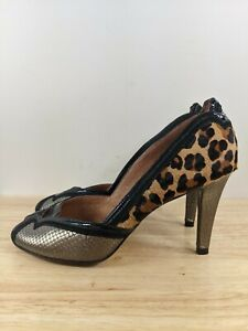 Corso Como Cheetah Print High Heels Peep Toe Sz 8
