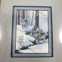 "D Tyler Wild Canines Fox Coyote Timber Wolf 15/"" x 18/"" Maine Art Poster 1990 D"