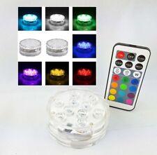 Party Unterwasser LED Licht 10 LEDs RGB Wasserdicht Vase Blumen Licht Fernbedien