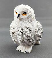 Snowy Owl Christmas Nativity Animal Figurine Carved Resin WMG 2006