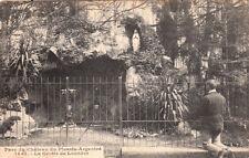 PLESSIS-ARGENTRE 1442 parc du château la grotte de lourdes timbrée 1905