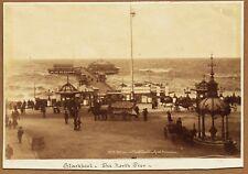More details for blackpool, lancashire, entrance to the north pier. rare 1880s albumen photograph