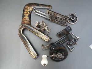 Job lot of vintage sewing machine parts Frister & Rossmann for spares craftwork