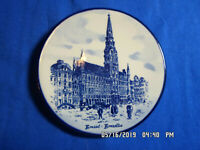 """Delft Blue Hand Painted in Holland 4 1/8"""" Vintage Collector Plate"""