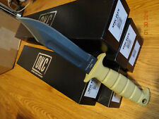 "12"" OVERALL LENGTH ONTARIO KNIFE CO. MARINE SP-1 COBAT KNIFE 1095HC BLADE TAN"