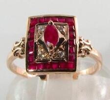 Handmade Ruby Rose Gold Fine Jewellery