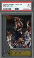 Steve Nash Phoenix Suns 1996 Bowmans Best Basketball Rookie Card RC #R18 PSA 9