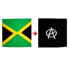 Couple wristbands Jamaica + in anarchy sponge groups rock and flags