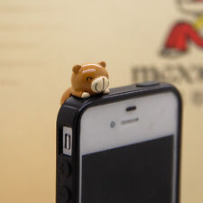New 3.5m Cute Chocolate Tedy Bear Anti-Dust Proof phone plug Charm