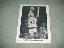 1980s Milwaukee Bucks Larry Krystkowiak Basketball Poster with Michael Jordan