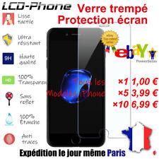 Lot Vitre protection verre trempé film écran protecteur iPhone 8/7/6S/6/Plus/X/