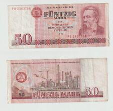 50 Mark 1971 DDR FB-Serie - seltener Original Geldschein - 0046
