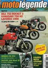 MOTO LEGENDE N0192 2008 BSA 750 ROCKET 3 KAWASAKI 750 H2 LAVERDA 1000 HONDACB250