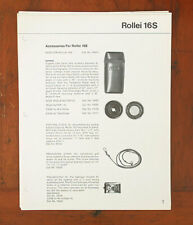 ROLLEI LOT OF DEALER NOTEBOOK PAGES/101540