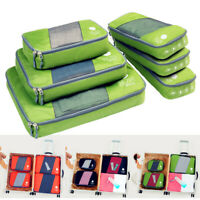 Luggage Baggage Organizer For Clothes Storage Set Train Travel Packing Cube