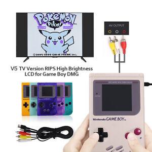 TV Version V5 OSD RIPS 36 Color LCD Screen Kit &Pre-Cut shell For Game Boy GBO
