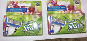 8 Dorco Shai Pace 6 Blade Women Cartridges Fits all Dorco Pace and Shai Handles