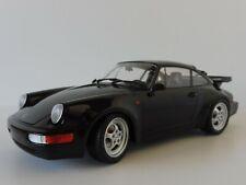 PORSCHE 911 Turbo 1990 BLACK 1/18 Minichamps PMA 155069104 964
