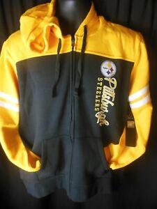 Piisburgh Steelers NFL Women's Touch Stadium Front Zipper Hooded Sweatshirt
