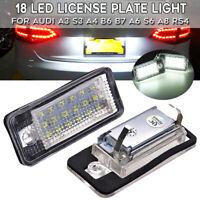 Feux éclairage de plaque LED Xenon Blanc pour Audi A3 S3 A4 B6 B7 A6 S6 A8 RS4