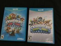 Skylanders 2 Game Lot, Swap Force & Trap Team Game Only (Nintendo Wii U, 2014)