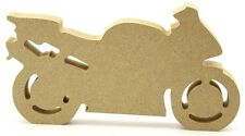 Motorbike - Freestanding 18mm MDF Craft blank, Shape - Gift Idea for Fathers Day
