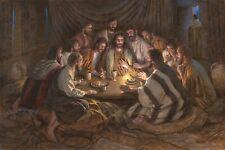 Jon McNaughton LAST SUPPER 24x36 S/N Canvas Art Jesus with Disciples Passover