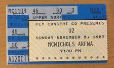1987 U2 THE JOSHUA TREE TOUR DENVER CONCERT TICKET STUB RATTLE AND HUM FILMED