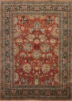 Geometric Floral Heriz Serapi Oriental Area Rug Hand-Knotted Wool Carpet 8x9 New