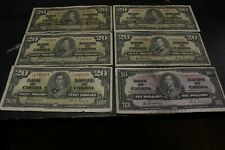 Lot,  1937 $10 $20 Bank note of Canada