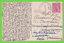 Sur CP - Horoplan ARGENTIERE (Savoie) sur 70c Mercure seul