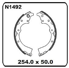 For Toyota Tarago TCR10 TCR20 5/1990-2/1993 REAR Drum Brake Shoe Set N1492