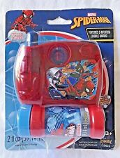 Spiderman Bubble Camera 5 Rotating Wands Marvel Imperial Toy New in Worn Package
