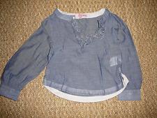 T. Shirt Blouse coton bleu fille 3 ans Z Lisa rose