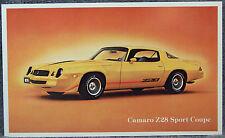 POST CARD ~ 1979 CAMARO Z28 ~ ORIGINAL