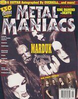 AUG 2005 METAL MANIACS rock and roll music magazine MARDUK
