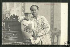 Singapore Malaysia Chinese Straits Girl Vase Costume ca 1906