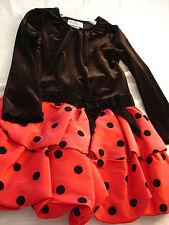 RARE EDITIONS Long Sleeve Black Red Polka Dot Dressy Dress Girls Sz 5 NWT
