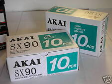10 Akai SX-90 Cassette Tapes Made in Japan