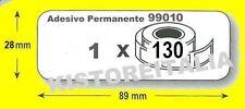10 rotoli ETICHETTE 99010 COMPATIBILI DYMO LABELWRITER 450 e 400 - Mis.89X28 mm.