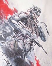 Metal Gear Solid 28x16 Oil Painting 40x28in NOT giclee or poster.Solid Snake