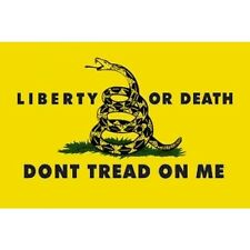 DON'T tread on Me Gadsden Yellow 3x5 Liberty or Death Tactical Flag