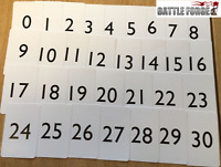 Pack of Number Cards - 0-30